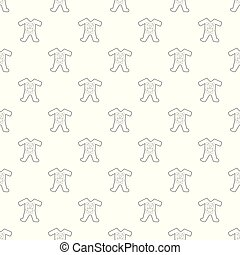 Childrens romper suit pattern vector seamless repeating for...