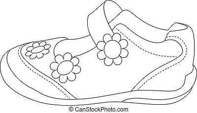5e4590bfdb816 Beautiful vector illustration. Children's sandals for girls.