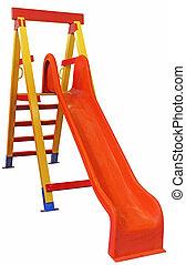 Childrens slide - Children's slides of wood and plastic...