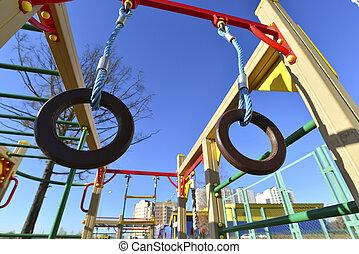 Children's sports complex outdoors