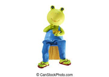 Children's toy. Ceramic frog.