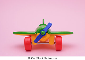 Children's toy green plane