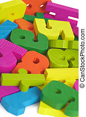 Childrens toy wooden letters