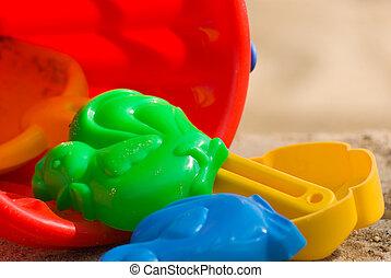 Children's toys close up