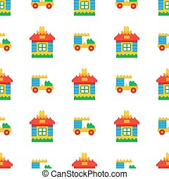 Childrens Toys for Play Time Seamless Pattern