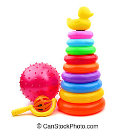 children's toys on a white background. It is isolated