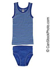 Children's underwear - set for the boy's underwear isolated ...