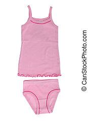Children's underwear - set for the girl's underwear isolated...