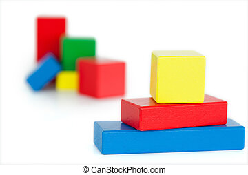 Children's wooden blocks