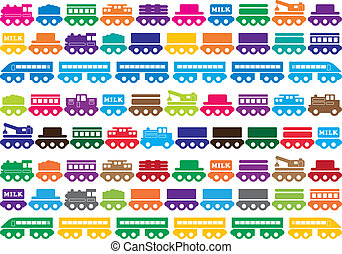 Children's wooden toy train - toy illustration