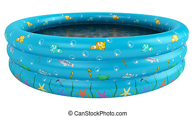Childs above ground swimming pool - Circular turquoise blue...