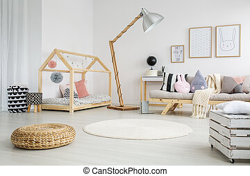 Childs bedroom in apartment