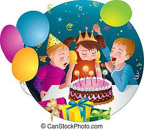 Child's birthday party - cake, fun