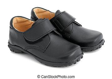 Child's black shoes