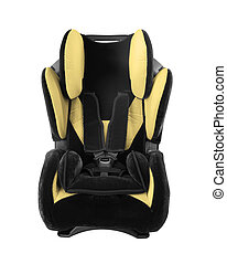 child's car seat isolated