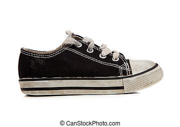 childs, chaussures de tennis, blanc