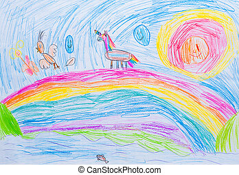 child's drawing abstraction pencil