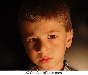childs, expresión, 4