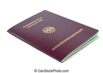 Childs German passport - A German passport for a child ...