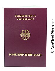 Childs German passport - A German passport for a child on ...
