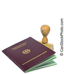 Childs German passport - A German passport for a child with ...