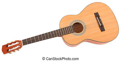 Child's Guitar with Clipping Path