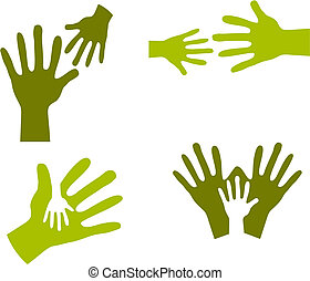 Child\'s Hands and Adult Hands