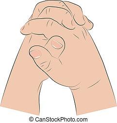 Child's Hands In Prayer