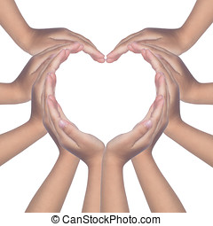 Child's hands making a heart shaped