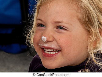 Child\'s head. Portrait of a little girl.