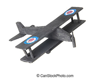 childs homemade toy plane - childs homemade black painted...