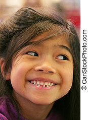 Child's loose tooth