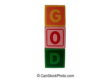 childs play blocks spell god with clipping path