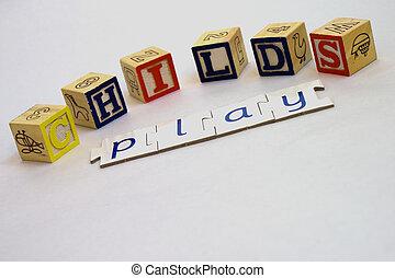 Childs play bricks