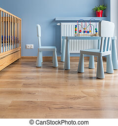 Child's room in blue