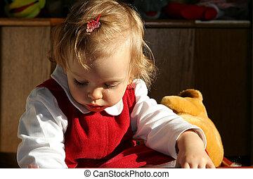child\\\'s, słoneczny, pokój