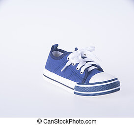 child's shoes on a background.