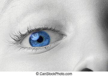 childs, thru, ojo