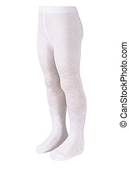 Child's tights isolated white on a mannequin