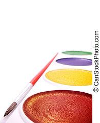 childs watercolor paints