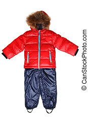 Child's winter jacket and trousers