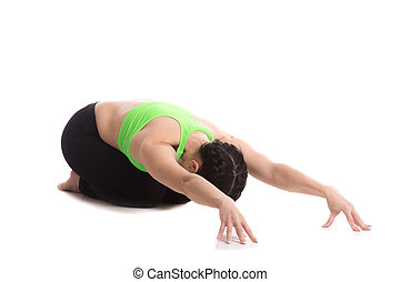 Ödla pose yoga vacker höft posture övning stående