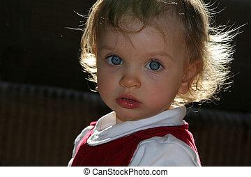 child\\\'s, zonnig, kamer