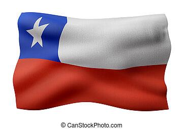 Chile 3d flag