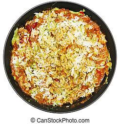 chile, arroz, avacado
