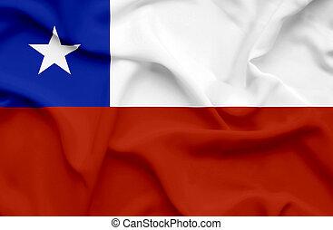chile, bandera ondeante