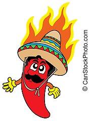 chile, caliente, mexicano
