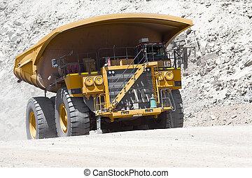 chile, cobre, camión, mina descarga