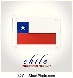 Chile Flag Door Plate with independence day lettering