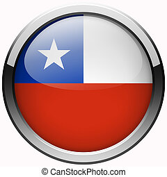 Chile flag gel metal button